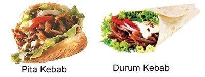 Kebab en Reus Pita durum kiymai