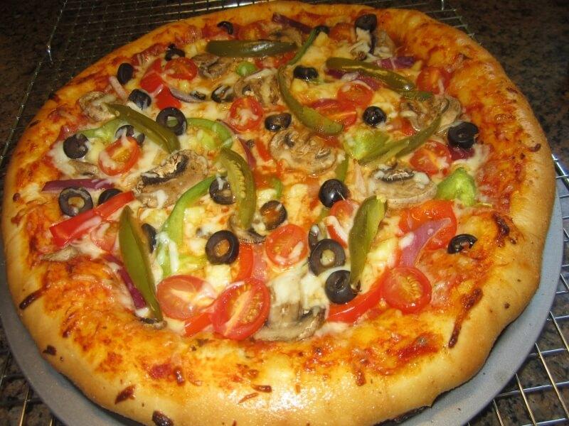 pizza vegetal en Cambrils