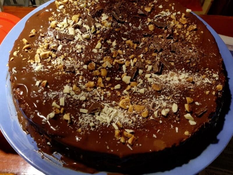Pastís de xocolata amb fruits secs
