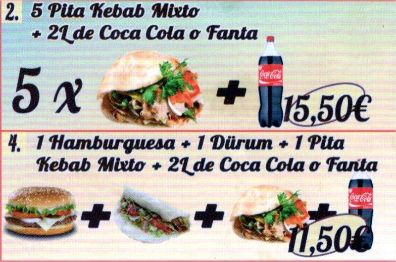 Bebidas en Kebab Reus