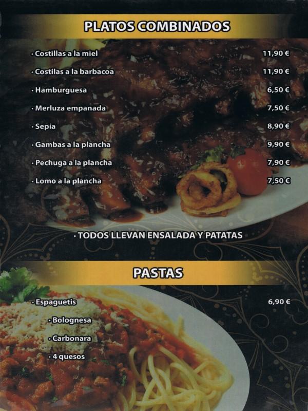 Carta restaurante Hindú en Vilaseca 2