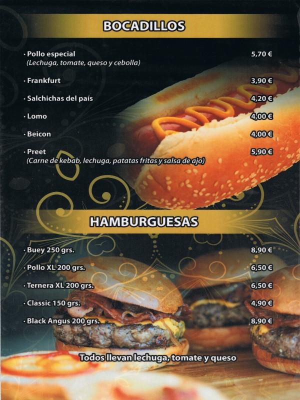 Carta restaurante Hindú en Vilaseca 3