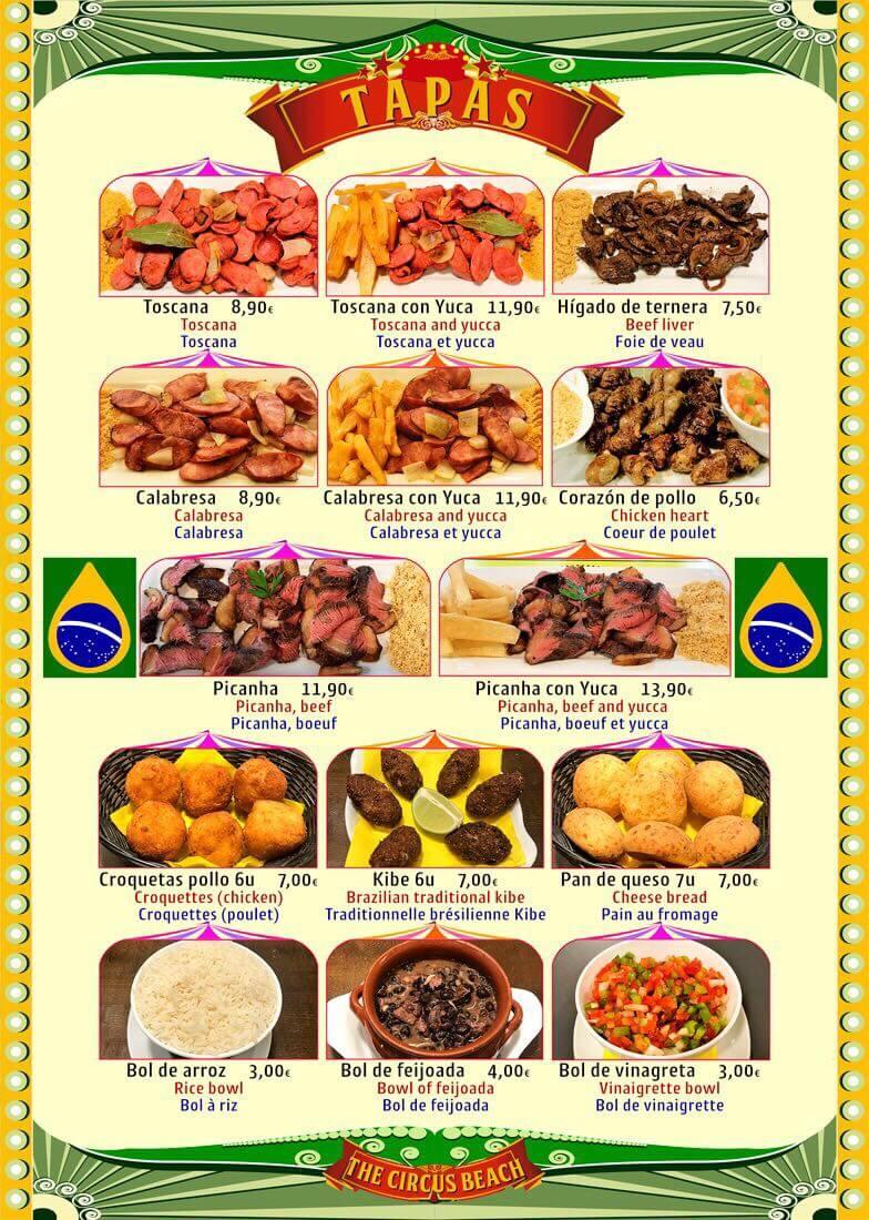Cocina Brasileña en Salou Tapas