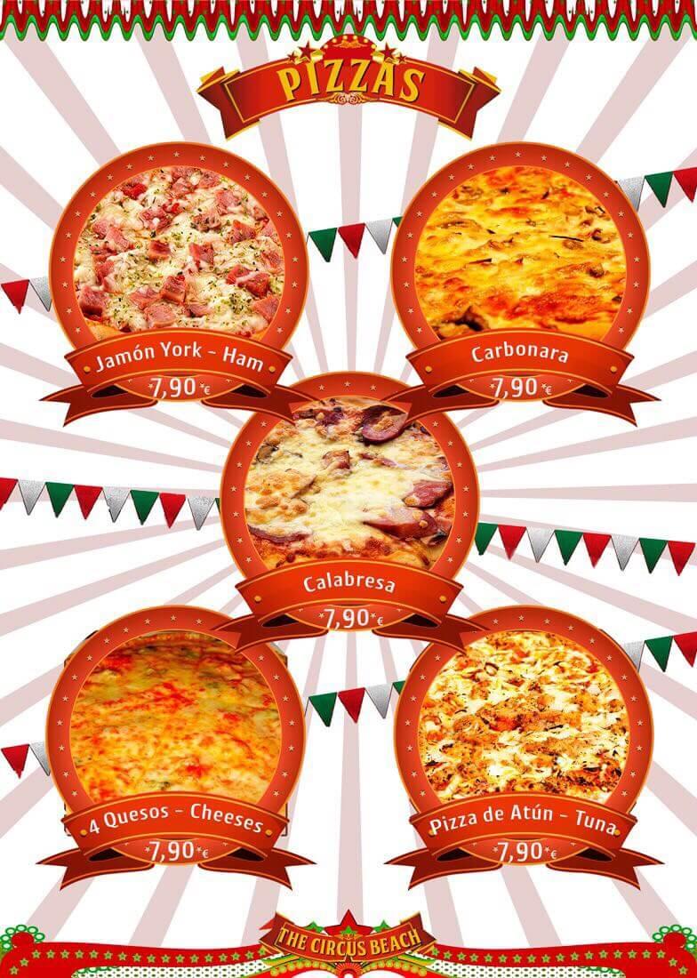 Cocina Brasileña en Salou Pizzas