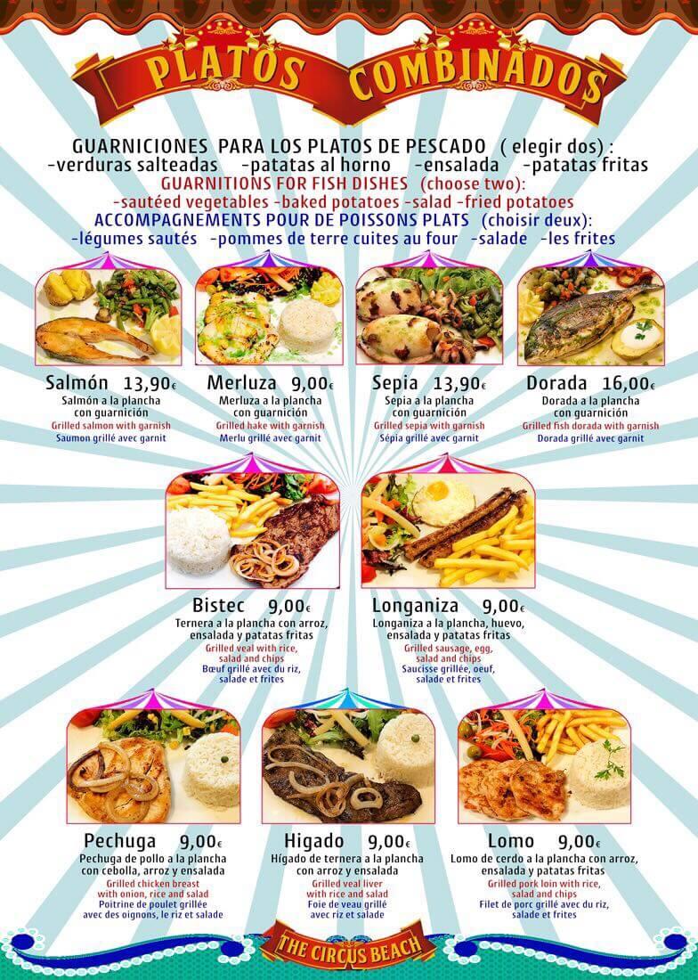 Cocina Brasileña en Salou Platos Combinados