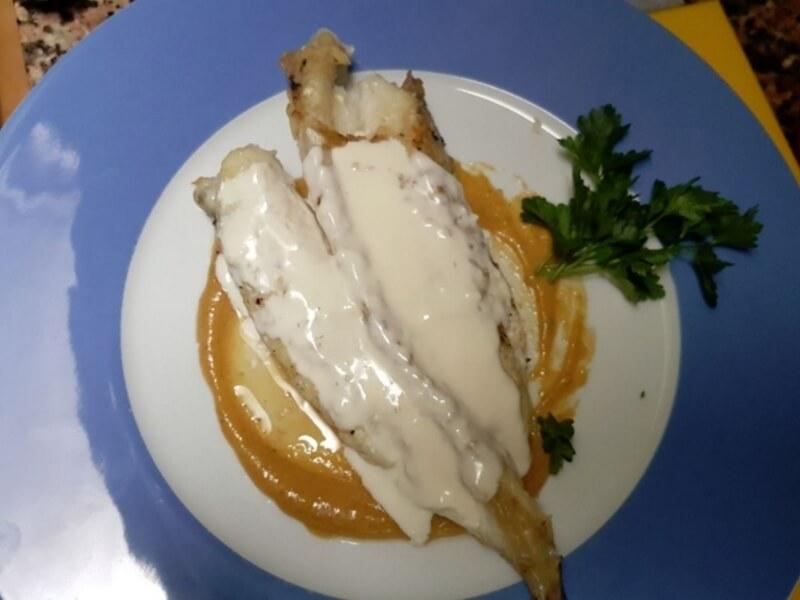 Filet de lluç amb salsa