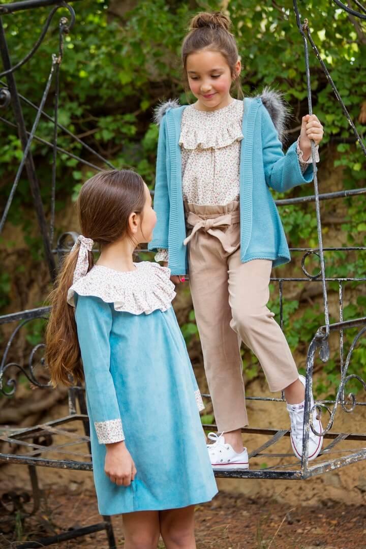 Vestido y conjunto para niña