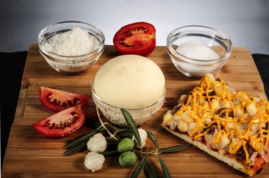 Pizza con productos naturales